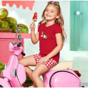 7折 居家两件套$28Gymboree 甜甜西瓜系列女童装 精梳棉开衫$33、纯棉上衣$19