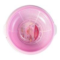 和兴 圆形塑料蔬果保洁篮子 双层含盖子 28cm 单组入 - 亚米网