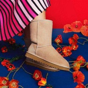 $120起 反季囤限量靴Ugg 40年庆典限量设计雪地靴热卖