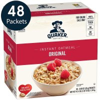 QUAKER 原味燕麦 48 Count, 0.98 oz Packets