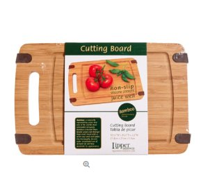 LIPPER Bamboo Cutting Board with Silicone Corners
