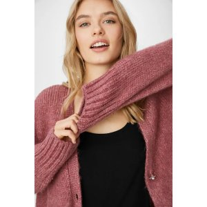 C&A粉色针织开衫