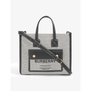 Burberry官网定价$1090Freya 迷你拼皮手提包