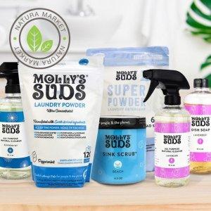 万能清洁喷雾$11.99收Molly's Suds 天然清洁产品热卖 烘干羊毛球3个$19