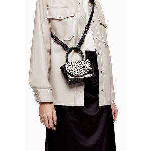TopshopKEN Black and White Mini Cross Body Bag