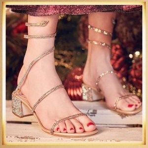 满额享8.8折 女神必备战鞋RENÉ CAOVILLA 仙女水晶鞋热卖 新款也参加!
