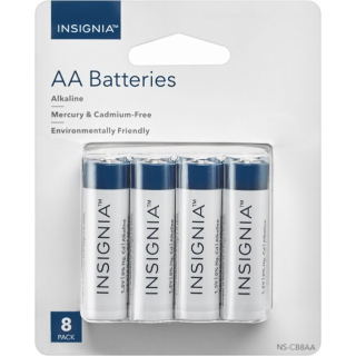 $2.49Insignia AA / AAA Batteries 8-Pack