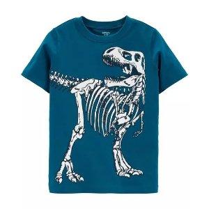 Carter'sDinosaur Skeleton Jersey Tee