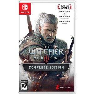 $49.94 新品预售 美版无中文《巫师3 完整版》Nintendo Switch 实体版