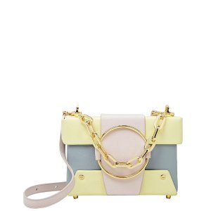 YuzefiAsher Box Chain Strap Colorblocked Bag