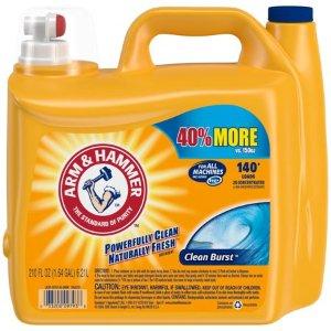 $9.98Arm & Hammer 2倍超洁净洗衣液 210oz超大瓶