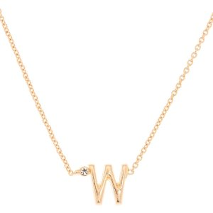 Gold Initial Necklace - W
