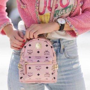 无门槛8折 潮人最爱街头设计MCM精选新款包包热卖 收粉嫩嫩双肩包