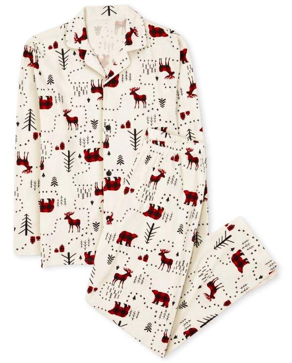 爸爸妈妈穿 全棉睡衣套装