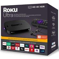 Roku Ultra 4K HDR 流媒体播放器 2019款 带JBL耳机