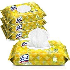 lysol首次订阅额外7.5折消毒湿巾4包 共320片