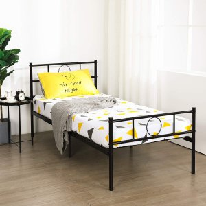 GreenForest Twin Bed Frame Platform with Headboard