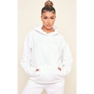 PrettyLittleThingWhite Ultimate Oversized Hoodie