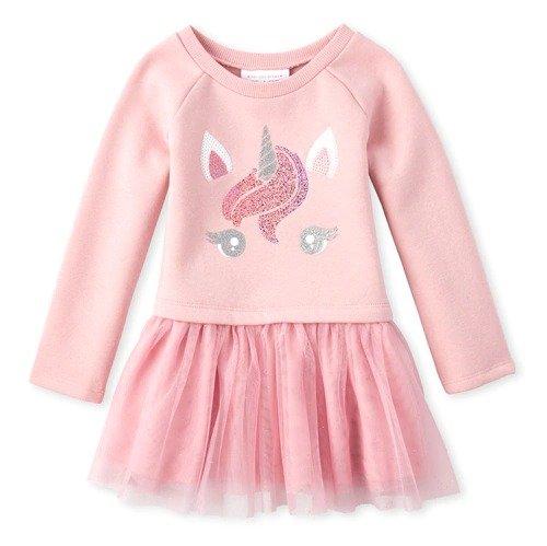 婴幼儿独角兽卫衣连衣裙