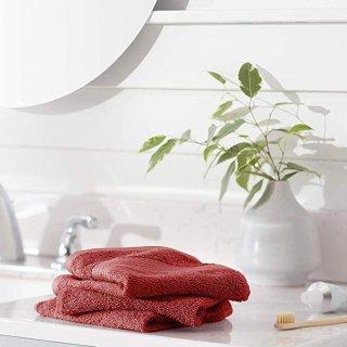 $4.88AmazonBasics 100%纯棉快干毛巾 12条