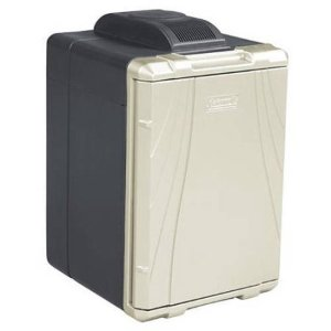 $78Coleman 40-Quart PowerChill Thermoelectric Cooler with Power Cord Black/Silver