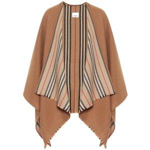 BurberryIcon Stripe wool cape