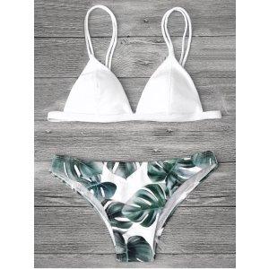 Cami Palm Leaf Print Bikini