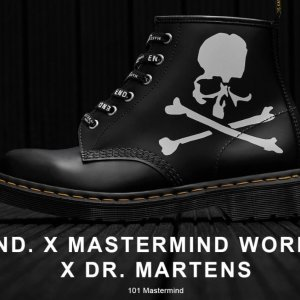 END. x MASTERMIND WORLD马丁靴即将截止:暗黑系三家联名马丁靴即将发售 抽签开放中 拼人品