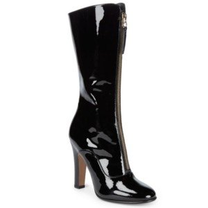VALENTINO: Classic Leather Mid-Calf Boots