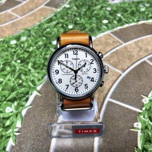 $54(原价$77.04)闪购:Timex Weekender Chrono 棕褐色皮革表带手表