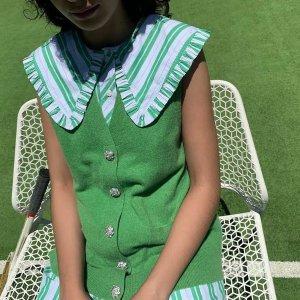 最高变相6.2折 入卫衣卫裤套装GANNI 随性北欧风浪漫美衣热促 收娃娃领连衣裙$216