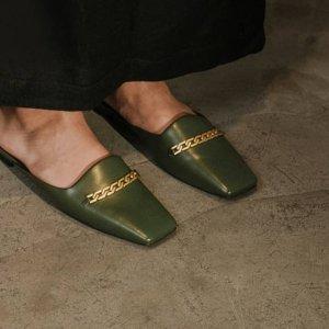 5折起 学院流苏乐福$39Charles & Keith 高颜值平底鞋好价  线条画穆勒$43
