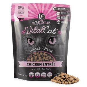 Vital Essentials Chicken Mini Nibs Entree Freeze-Dried Cat Food, 12-oz bag - Chewy.com