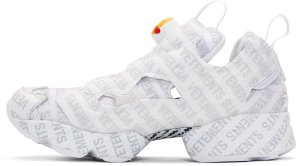 Vetements Reebok Classics Edition Logo Emoji Instapump Fury Sneakers