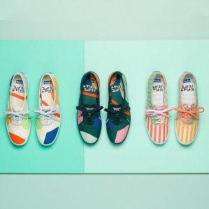 售价$69.95 +免邮上新:Dusen Dusen X Keds 设计师合作款帆布鞋开售