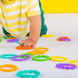 仅$6.99Bright Starts 彩色圈圈玩具24件套