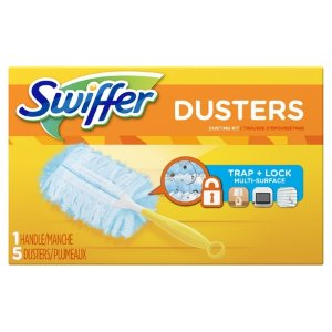Swiffer Dusters Dusting Kit (1 Handle, 5 Dusters) - Walmart.com