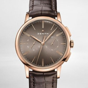 Extra $1000 OffZENITH Elite 18kt Rose Gold Automatic Men's Watch