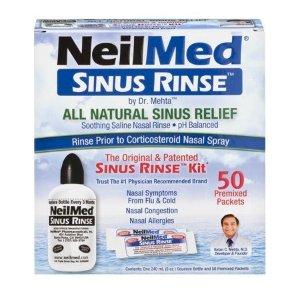 NeilMed 鼻道清洗套装,1 喷瓶+50 冲剂