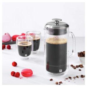 Zwilling购买法压壶可+$17.5换购双壁咖啡杯双壁法压壶