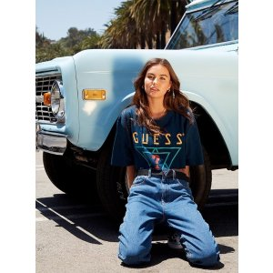 GUESS Originals Oversized Triple Logo Tee at Guess
