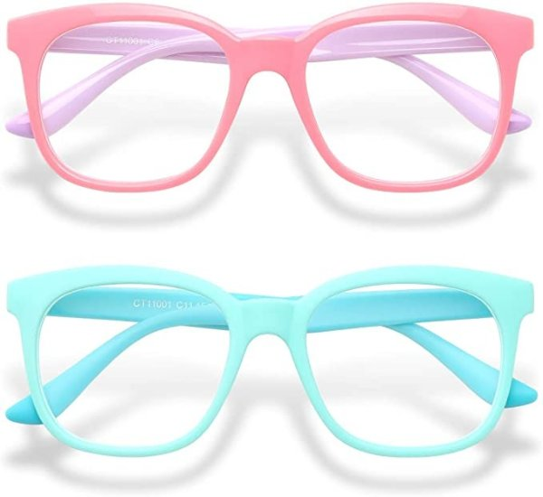 儿童防蓝光眼镜2副