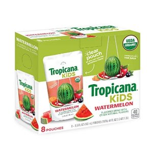 Extra 40% offTropicana Kids Organic Juice Drink Pouch, Fruit Punch, 5.5 Ounce, 32 Count