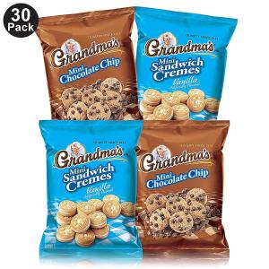 $12.13Grandma's Mini Cookies, 2 Flavor Variety Pack Of 30)