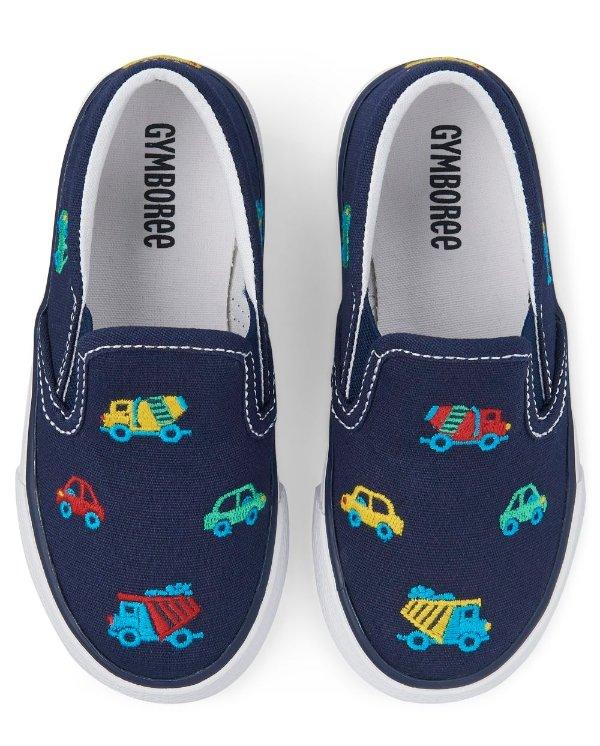 男童刺绣帆布鞋