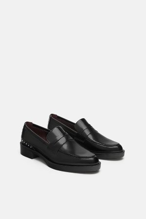 STUDDED LOAFERS - Flats-SHOES-WOMAN | ZARA United States