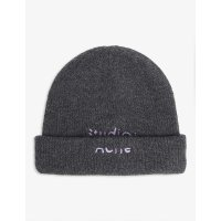 Acne Studios Logo 羊毛毛线帽