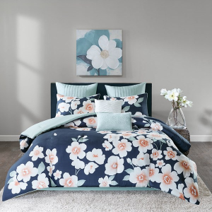 $34Sakura 8 Piece Cotton Comforter Set