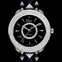 Dior VIII 镶钻机械黑陶瓷女表 38毫米表径
