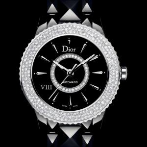 $3995+包邮无税Dior VIII 镶钻陶瓷机械奢华女表